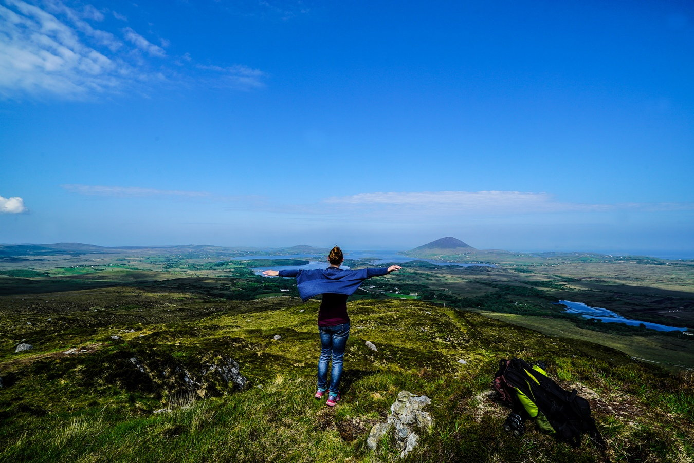 Die Seenlandschaft des Connemara Nationalparks.