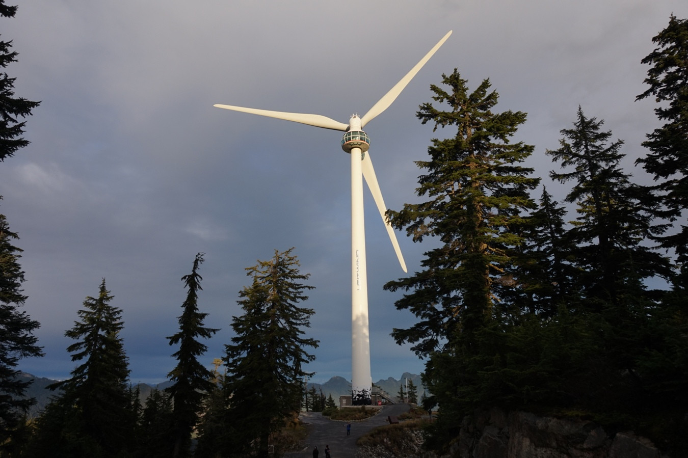 Das Eye of the Wind auf dem Grouse Mountain.