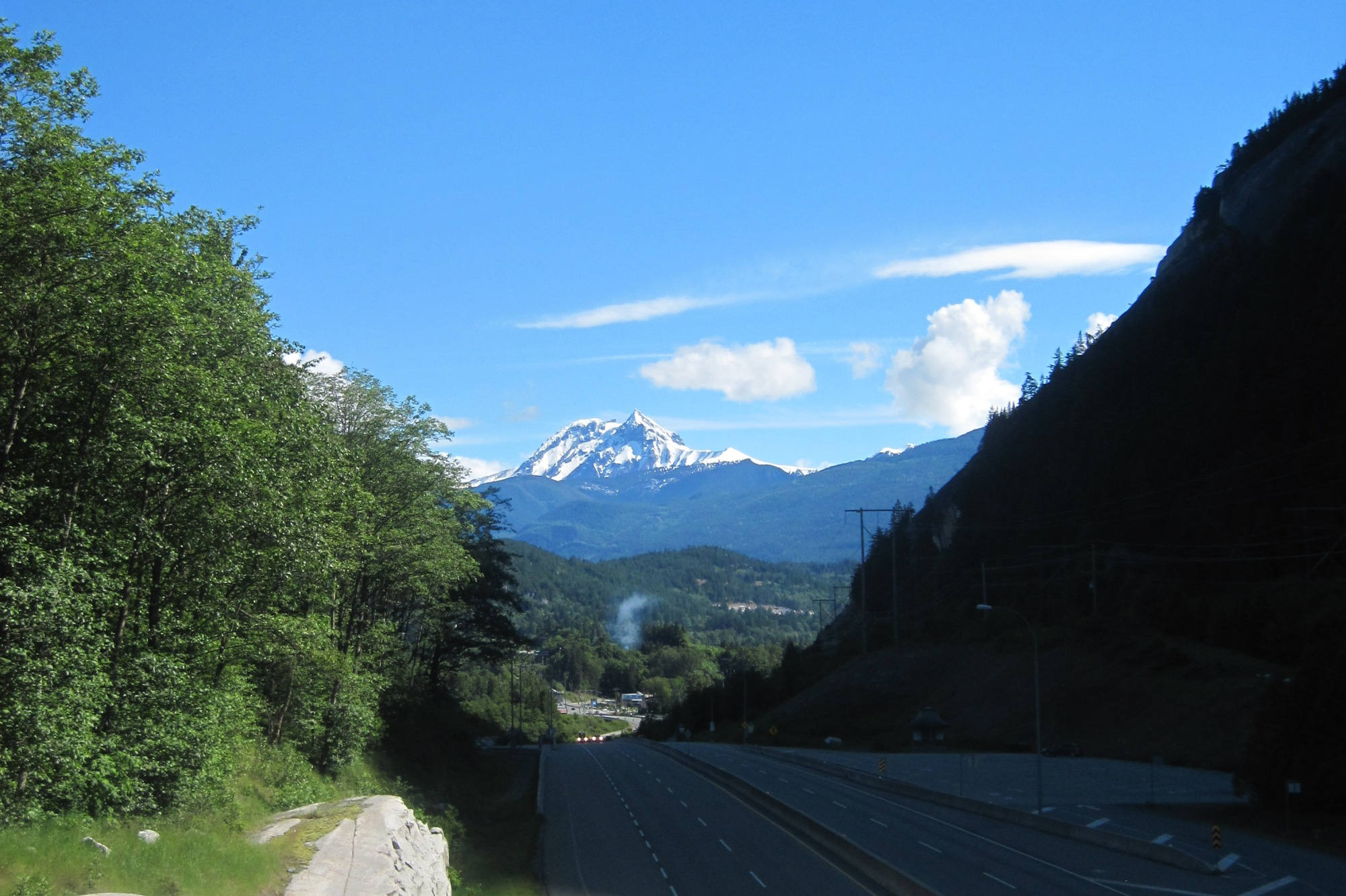 Der Sea-to-Sky Highway bei Squamish.