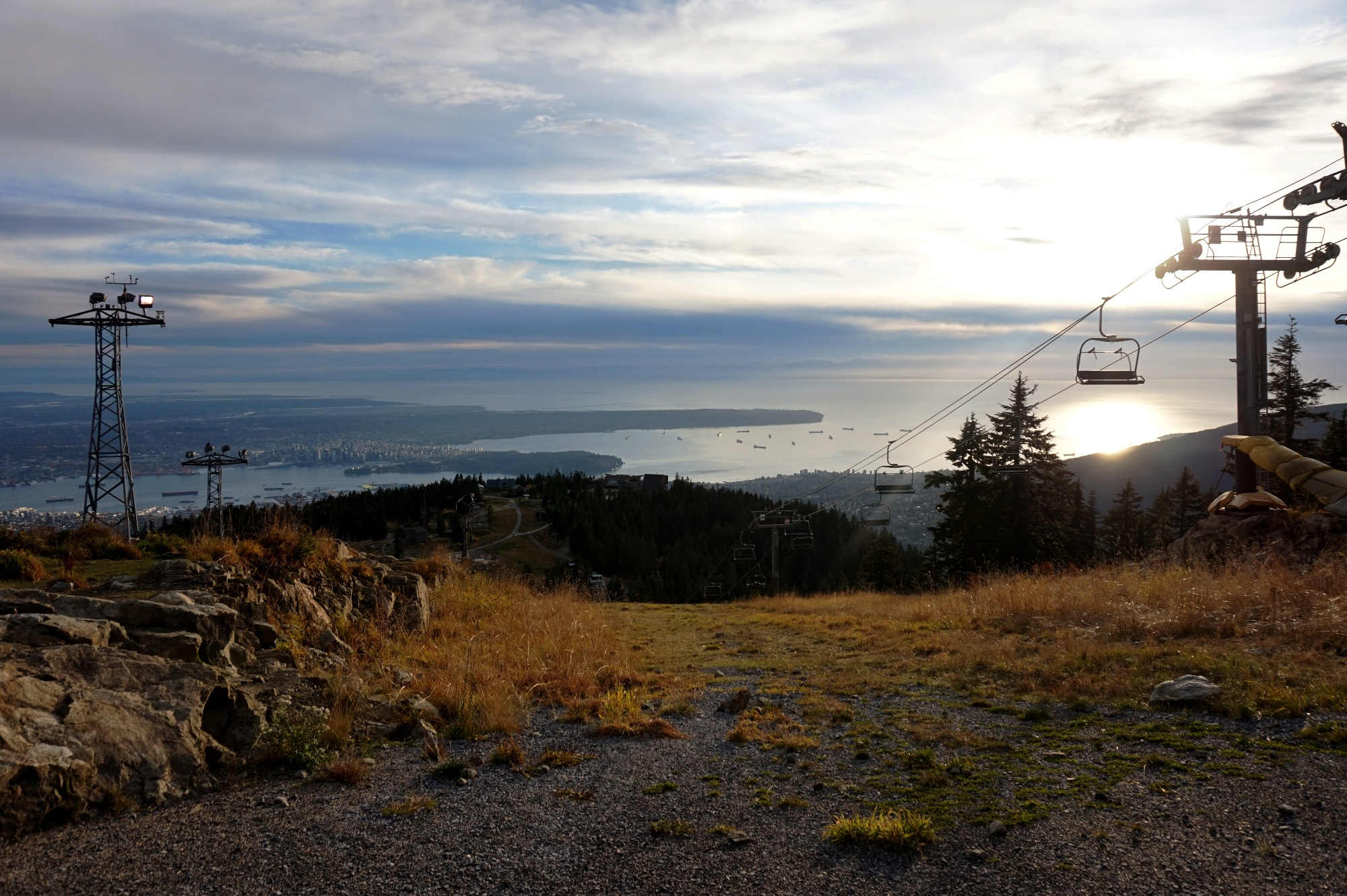 Der Blick auf Vancouver vom Grouse Mountain.
