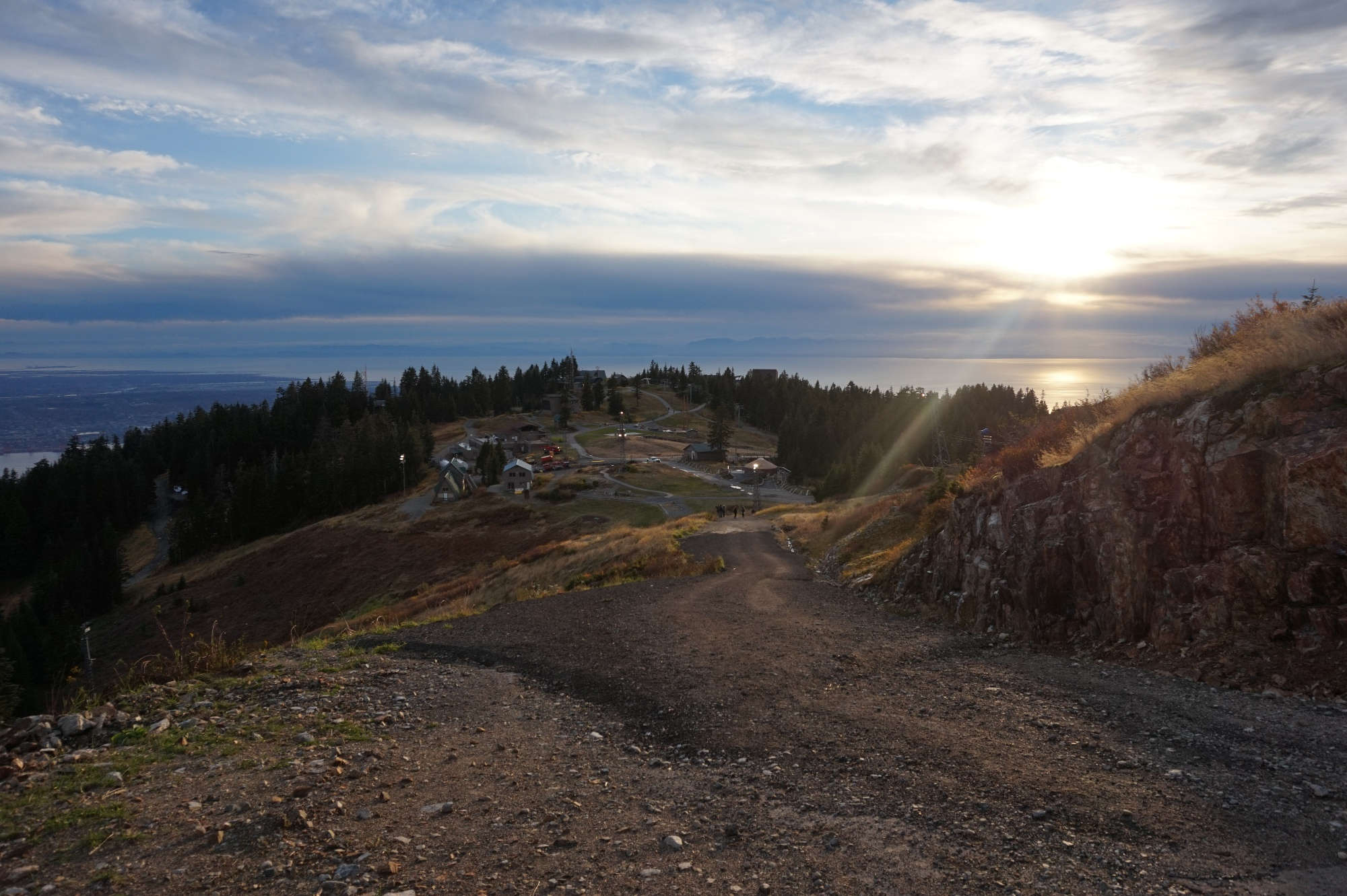 Das Gipfelplateau am Grouse Mountain.