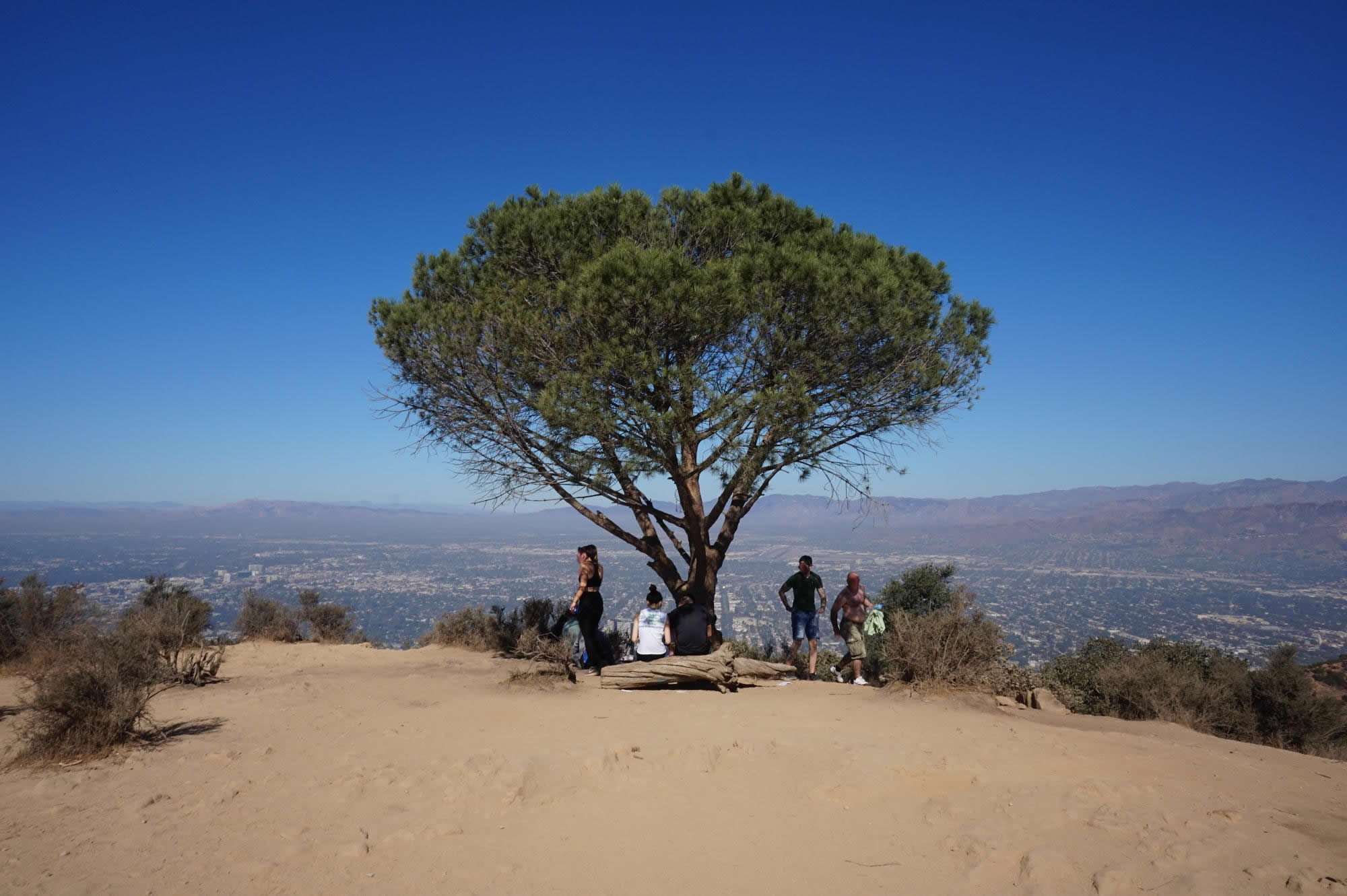 Der Gipfel des Burbank Peak in den Hollywood Hills.