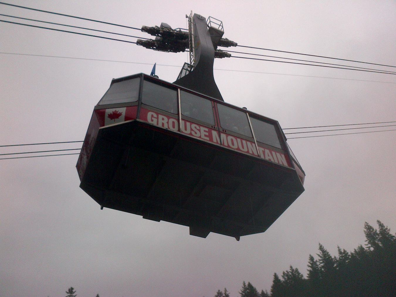 Die Talstation des Grouse Mountain Skyrides.